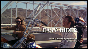 Easy Rider (Dennis Hopper, 1969): wherever that river goes